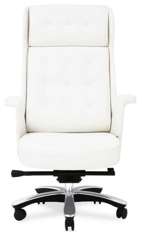 rockefeller genuine leather executive chair white