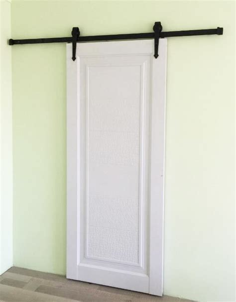 183cm rustic black country style sliding barn wood door