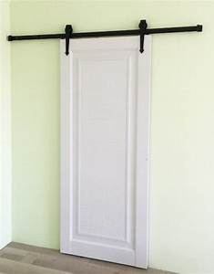 183cm rustic black country style sliding barn wood door With cost of interior barn doors