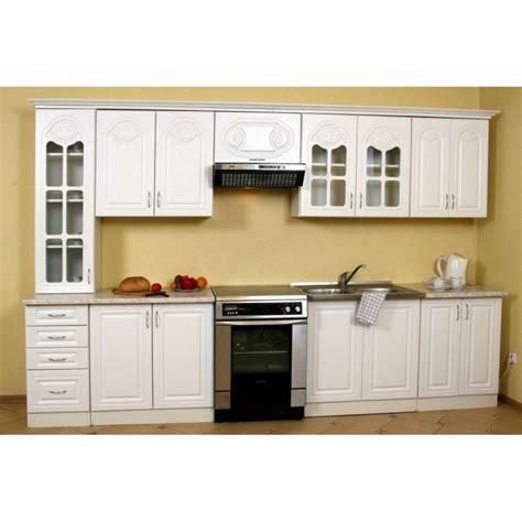 meuble cuisine premier prix cuisine équipée blanche longueur totale 3 20 m achat vente cuisine complète fanfan