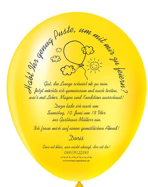 originelle einladungen auf luftballons zu ihrem  geburtstag