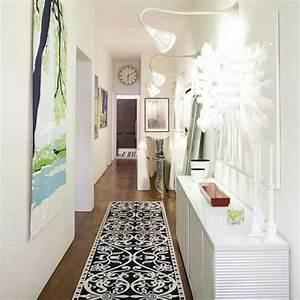 five small hallway ideas for home With carrelage adhesif salle de bain avec lightbox led lights