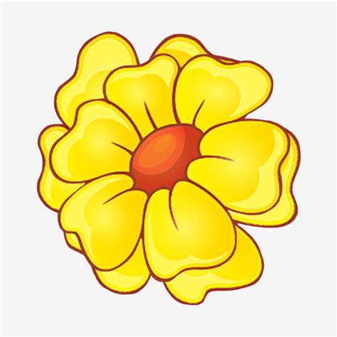 Elemento Decorativo Planta Flor Amarilla De Dibujos
