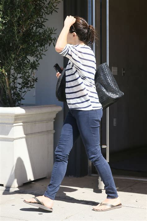 neve campbell street style leaving  twist cafe  los