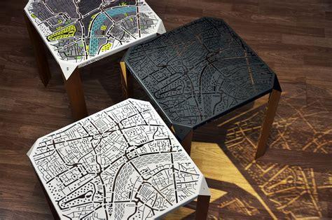 London Map Side Table by Hasan Agar