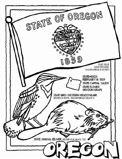 Oregon State Crayola Coloring Pages States Flag