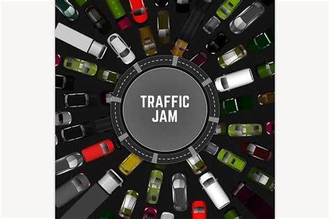 traffic jam image  images business card mock