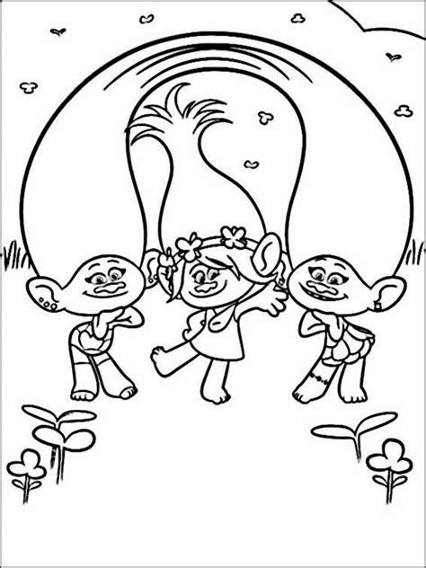 Gratis Kleurplaten Trolls by Trolls Coloring Pages 12 раскраска Disney Coloring