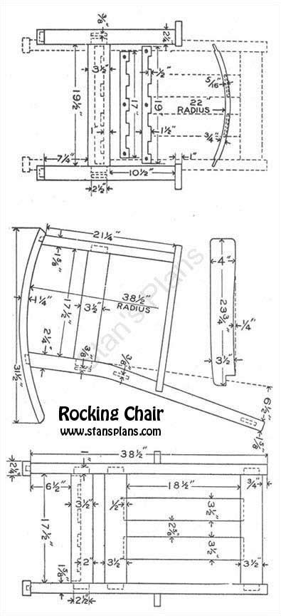 printable plans for a rocking chair