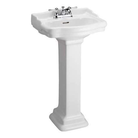 stanford white 4 inch spread pedestal sink barclay