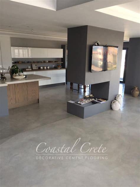Estrich Bodenbelag Wohnbereich by Coastal Crete Flooring Ash Grey Colour Screed Flooring
