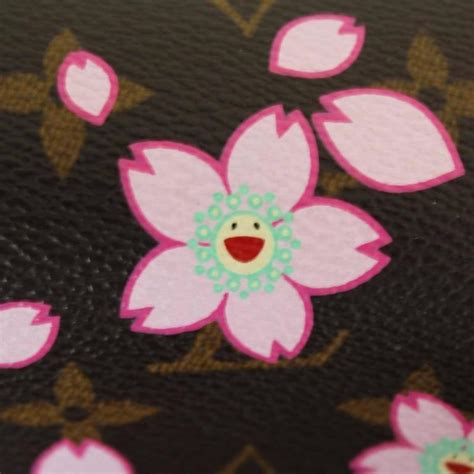 louis vuitton cherry blossom papillon  takashi murakami  stdibs