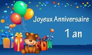 Texte Anniversaire 1 An Garçon : carte anniversaire enfant 1 an nounours ~ Melissatoandfro.com Idées de Décoration