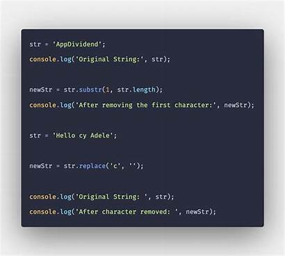 String Character Remove Example Javascript