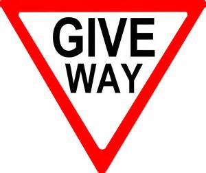Clipart - give way sign