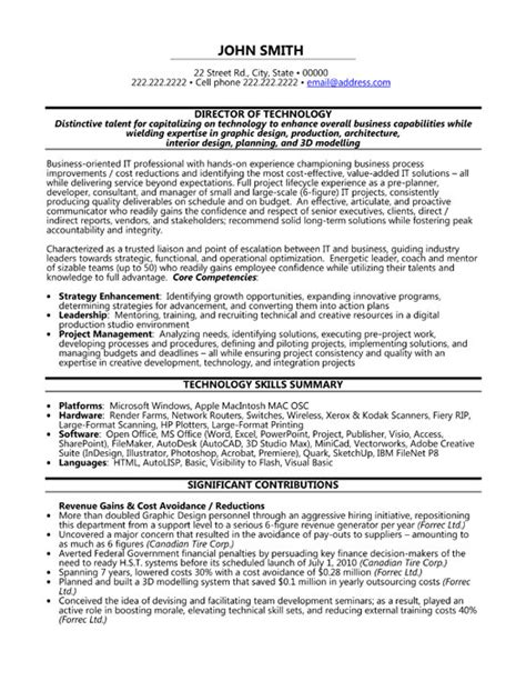 Technology Director Resume top executive resume templates sles