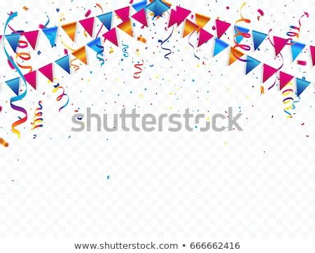celebrate banner party flags confetti vector stock vector