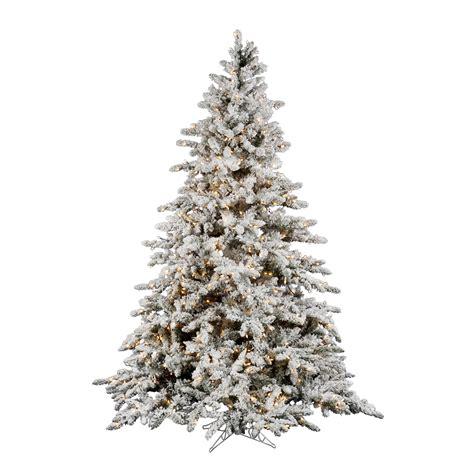 10 foot flocked utica fir christmas tree clear lights
