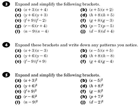 Brackets And Factorising  Maths Teaching