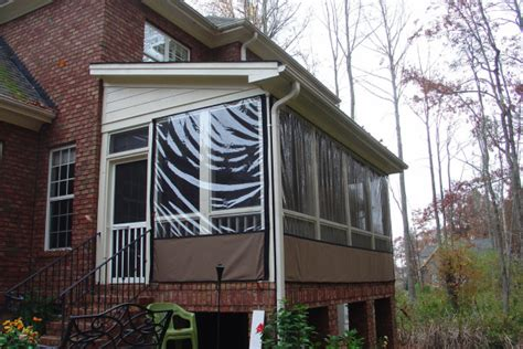 Winterizing A Screened Porch by Mosquito Netting Curtains And No See Um Netting Curtains