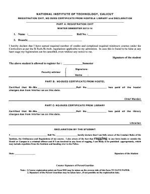 fillable  registration chit  dues certificate