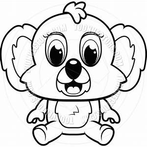 Koala Clipart Black And White Cute