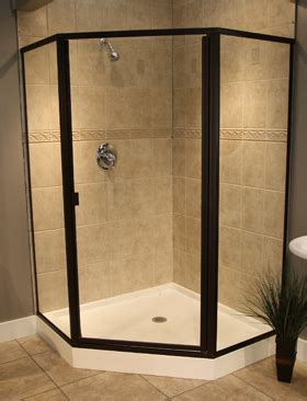 Frameless Neo Angle Shower Doors by Swing Shower Doors With Neo Angle Panels
