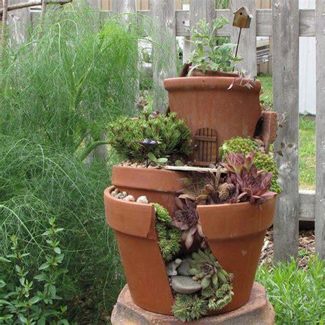 broken pots turned into brilliant diy gardens