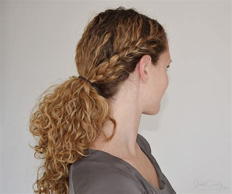 Half Braided Half Curly Hairstyles by The Half Braid Ending In A Ponytail Tutorial