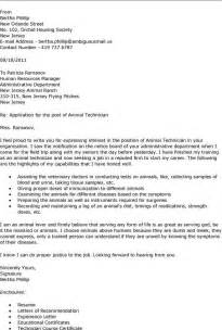 Veterinarian Resume Cover Letter by Best Photos Of Veterinarian Tech Resume Cover Letter Vet