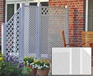HDPE Terrassen Sichtschutz Set Wei Mit 190x295 Kaufen