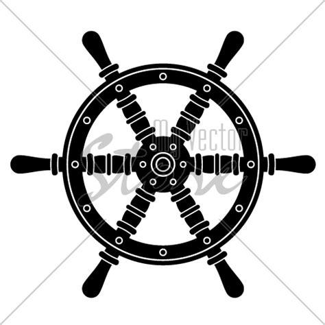 Boat Steering Wheel Silhouette by Vector Nautical Boat Steering Wheel Silhouette