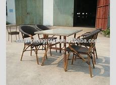 Bamboo Dining Table Chair Set Garden Furniture As6015 Set