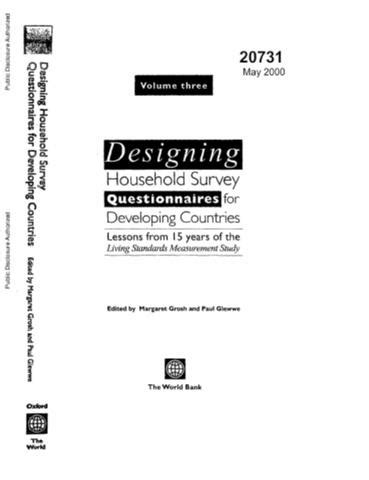 Designing Household Survey Questionnaires for Developing