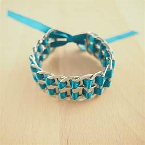 bracelet canettes recycles buho turquoise latino fait main With bijoux fait main