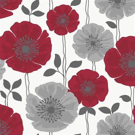 gray  cream wallpaper border red silver grey