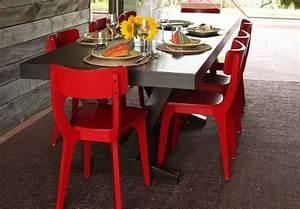 chaise salle a manger moderne deco maison moderne With meuble salle À manger avec chaise salle a manger rouge