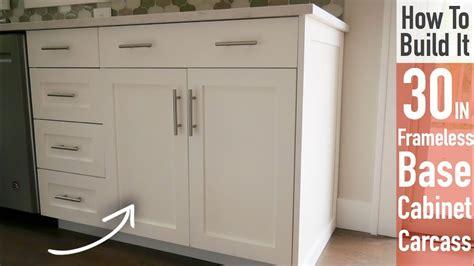 Frameless Cabinets - diy 30in base cabinet carcass frameless