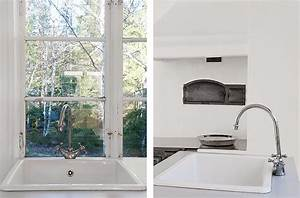 casa, de, veraneo, con, interiores, blancos, minimalistas