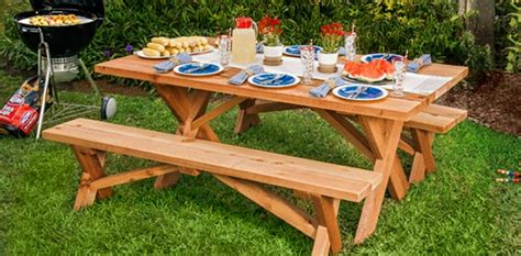 20 free picnic table plans enjoy outdoor meals with