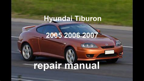 free auto repair manuals 1998 hyundai tiburon transmission control hyundai tiburon 2005 2006 2007 repair manual youtube
