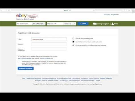 ebay kleinanzeigen anmelden registrieren account erstellen