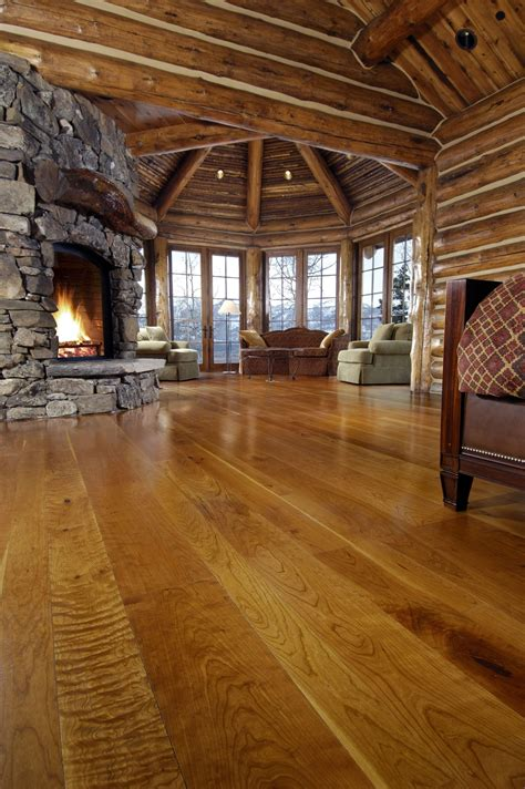 cherry solid wood floors   colorado living room