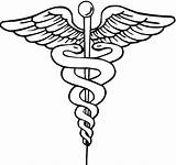 Symbol Medical Doctor Clipart Clip Symbols Medicine Physician Caduceus Drawing Sign Cliparts Md Care Coloring Pages Health Howard Mason Library sketch template