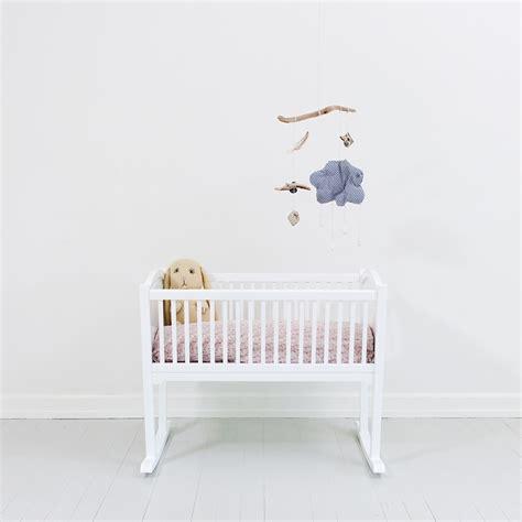 nursery rocking baby crib cradle in white nursery cots