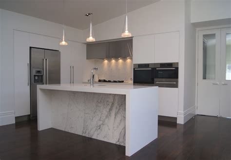 marble  white kitchen contemporary kitchen