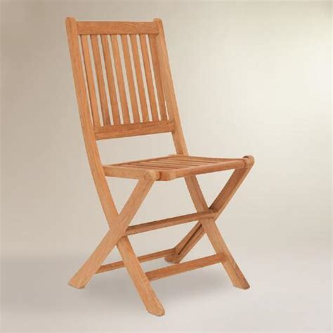 sumar teak folding side chairs set of 2 world market