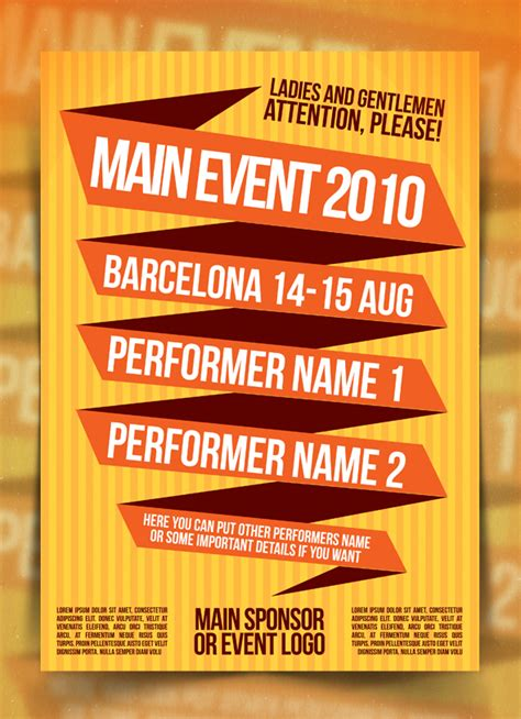event poster template colored event poster template by indieground on deviantart
