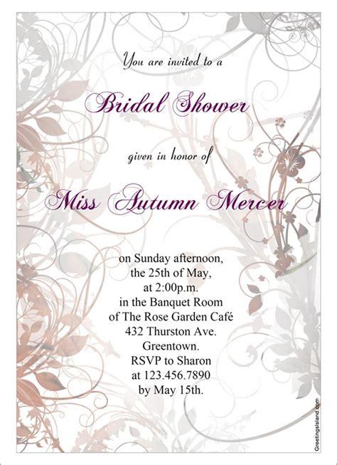 bridal shower invitation templates sample templates