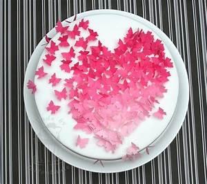 Kuchen Dekorieren Geburtstag : valentins torte mit schmetterlingen fondant cake pinterest torten valentinstag torte und ~ Pilothousefishingboats.com Haus und Dekorationen
